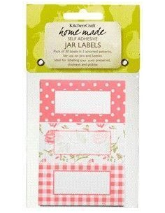 Etiquetas adhesivas rosas - Kitchen Craft