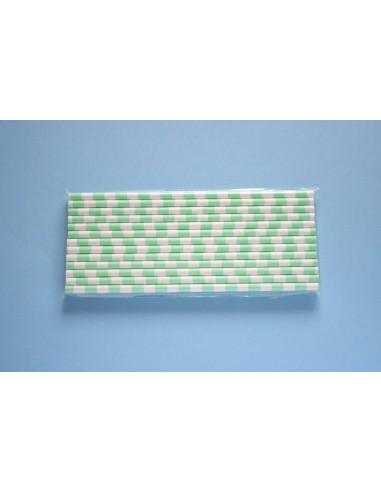 Pajitas de papel con rayas horizontales turquesa for Papel con rayas