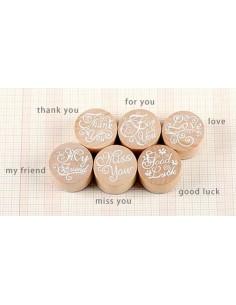 Set 6 sellos mensajes