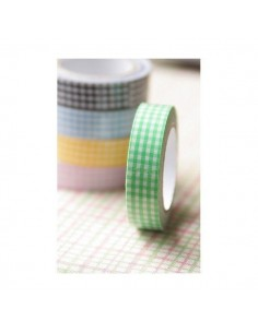 Fabric Tape cuadros verdes