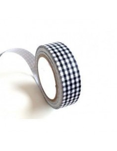 Fabric Tape cuadros negros