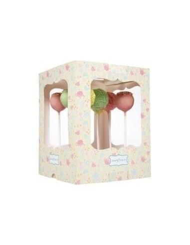 Pack 2 cajas decoradas para cakepop