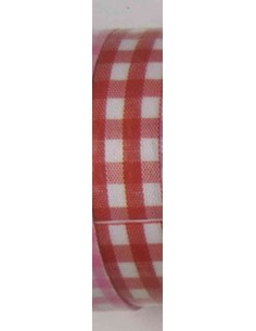 Fabric tape cuadros grandes rojos
