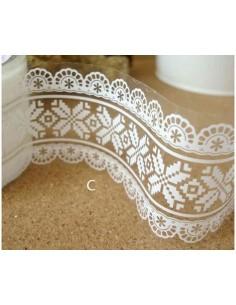 Washi tape ancho 4,8 cm blanco mod. C