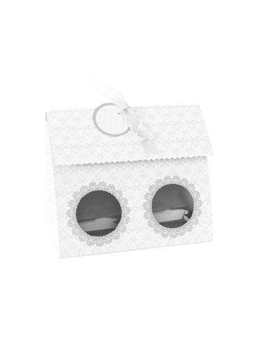 Caja para 2 Cupcakes Elegante (4uds)