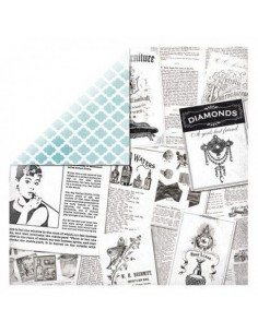 Hoja papel scrapbooking doble cara vintage