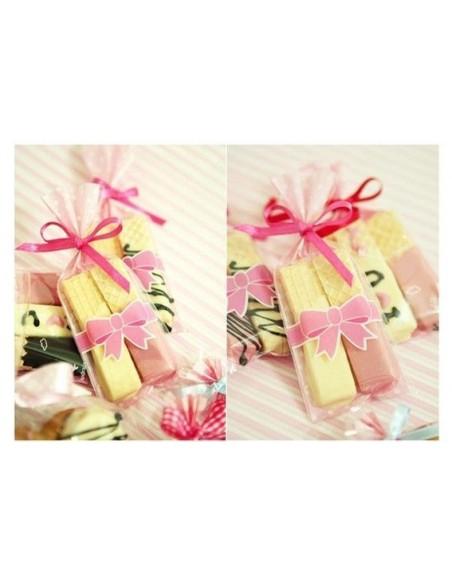 Bolsas rosas con lazo
