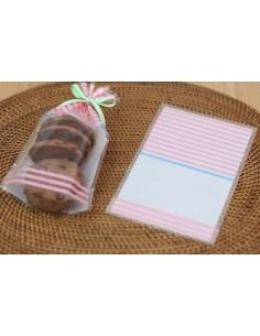Bolsas para galletas de rayas