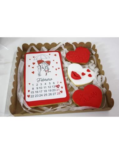 Caja galletas Calendario San Valentín