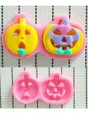 Molde de silicona duo de calabazas Halloween