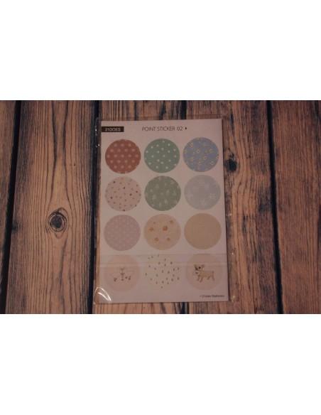 Pegatinas círculos estampadas mod 1-2