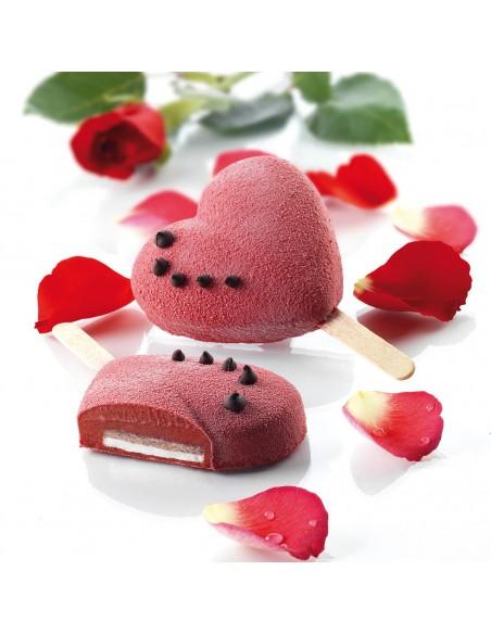 Molde mini helados corazón