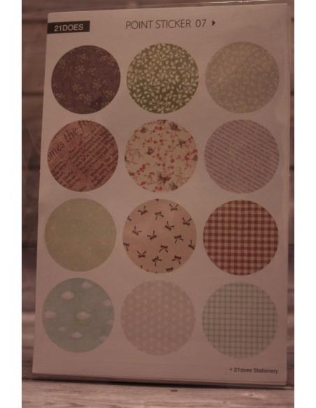 Pegatinas círculos estampadas mod 7-8