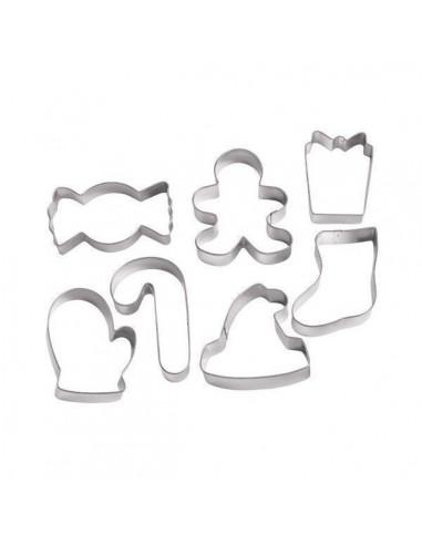 Set 7 cortadores formas navideñas Wilton