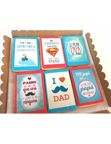 Caja de galletas día del Padre