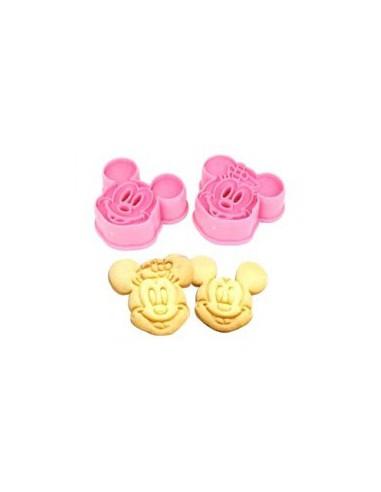 Set 2 Cortadores Mickey y Minnie