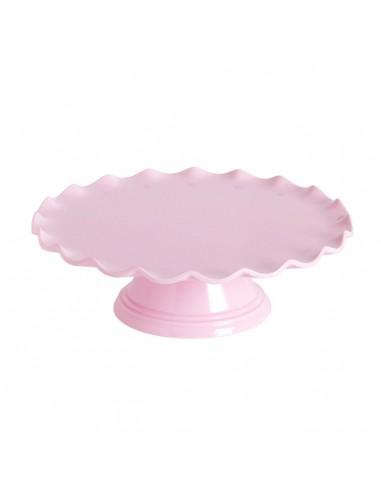 Stand melamina rosa borde ondas