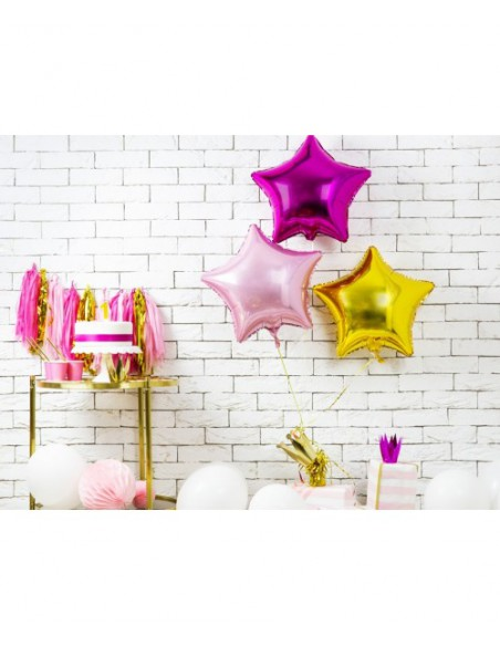 Globo estrella foil rosa claro
