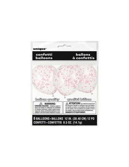 Globos confeti rosa