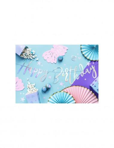Banner Happy Birthday Plata