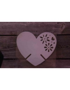 Pack 12 corazones de papel decorativos