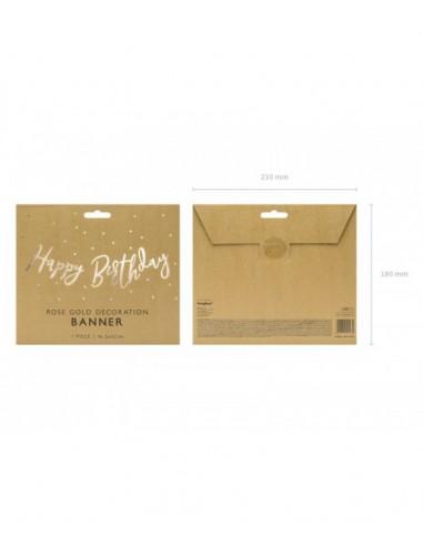 Banner Happy Birthday Rose Gold