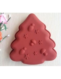 Molde de silicona abeto navideño