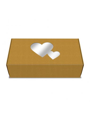 Caja para galletas Kraft corazones