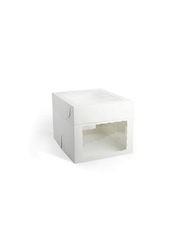 Caja para Tarta 30 cm con 3 ventanas