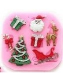 Molde silicona navideño trineo