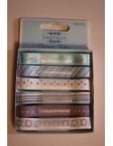 Set de 6 cintas para decorar navidad azul