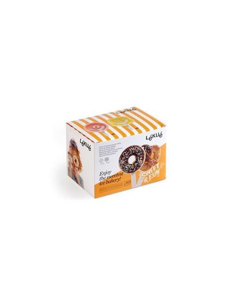 Set 4 Moldes Donuts y Pretzels para helados