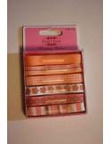 Set de 6 cintas para decorar naranja