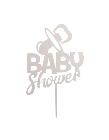 Topper Baby Shower Plata