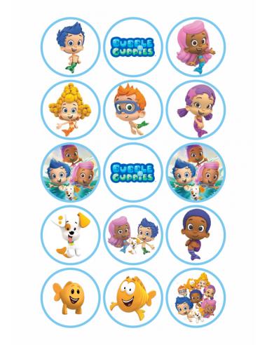 Papel de azúcar Bubble Guppies para galletas