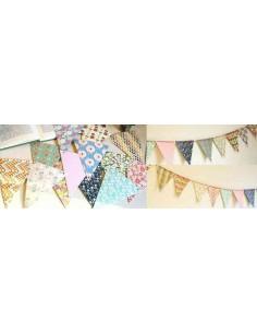 Banderines estampados de papel