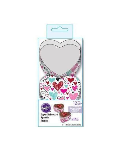 Moldes Desechables con Forma de Corazón Wilton