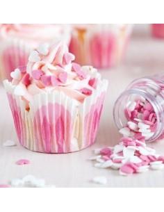 Corazones Azúcar Rosas y Blancos FunCakes