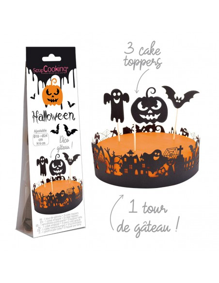 Wrapper y toppers Halloween para tarta