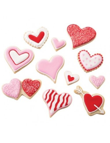 Set Cortadores Galletas San Valentín Wilton