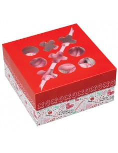 Caja 4 Cupcakes Amor, 3 u. Wilton