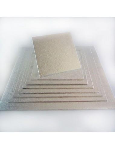FunCakes Base para Tartas Plateada Cuadrada 20 x 20 cm