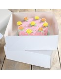 FunCakes Caja para Tartas -Blanca 32x32x11.5cm - 2und