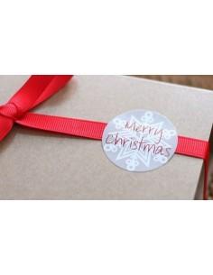 Pegatinas Merry Christmas gris