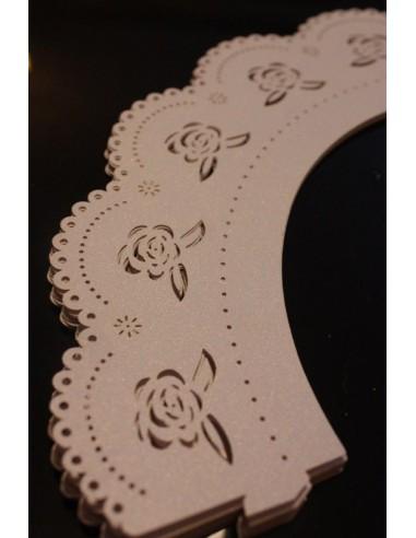 Pack 12 wrappers con rosas de encaje