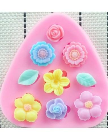 Molde silicona florecillas