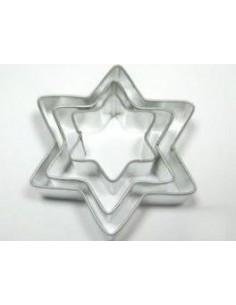 Set 3 Cortadores Estrellas Metálicos
