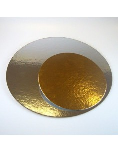 Base Cartón oro/plata 16cm,  3 unds.