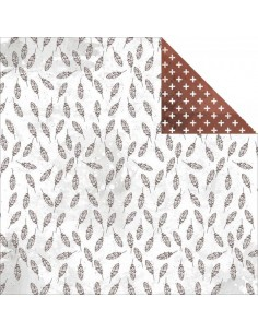 Papel decorado doble cara Feathers