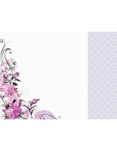 Hoja doble cara violet crush